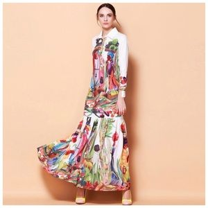 Dresses & Skirts - ❤️ The Delaina Colorful Silk Flowing Dress